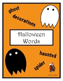 Halloween Sight Words on Ghosts