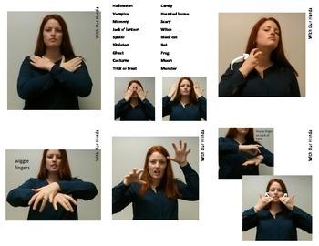 Halloween Sign Language (ASL) Vocabulary Cards