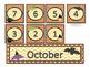 Halloween Sign and October Calendar Set