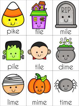 Halloween Silent E Cards