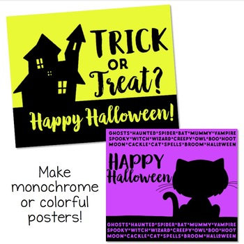 Halloween Silhouettes Clip Art Bundle  {Educlips Clipart}