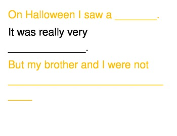 Halloween Silly Poem Template