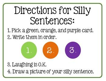Read, Write, Laugh Halloween Silly Sentences