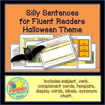 Halloween - Silly Sentences for Fluent Readers