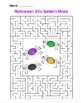 Halloween Silly Spiders Maze!  Halloween Maze FUN! (Color and Black Line)