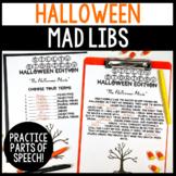 Halloween Parts of Speech Silly Stories Grammar Activity