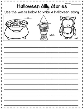 Halloween Picture Prompts Literacy Activity