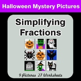 Halloween Math: Simplifying Fractions - Color-By-Number Math Mystery Pictures
