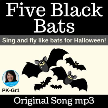 "Halloween Singing Dramatization  | ""Five Black Bats"" | Song mp3"