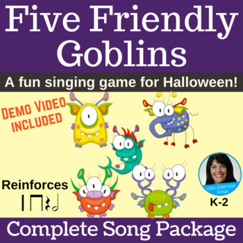 Halloween Singing Game | Five Friendly Goblins | Complete Song Package