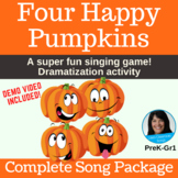 Halloween Singing Game | Four Happy Pumpkins | Complete So