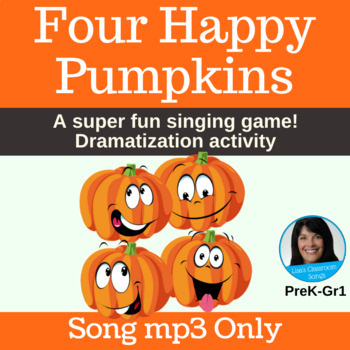 Halloween Singing Game | Four Happy Pumpkins by Lisa Gillam | Song mp3