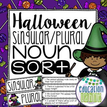 Halloween Singular & Plural Nouns