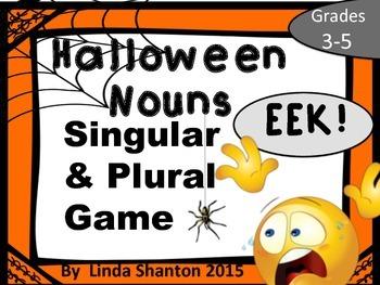 Halloween Singular and Plural Nouns EEK!
