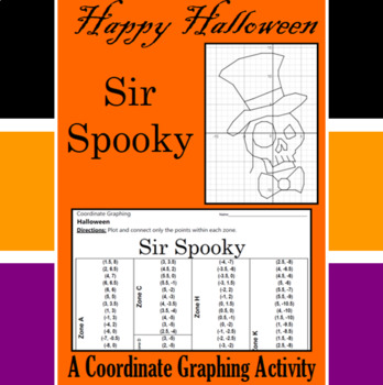 Halloween - Sir Spooky - A Coordinate Graphing Activity