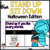 Halloween Sit Down Stand Up