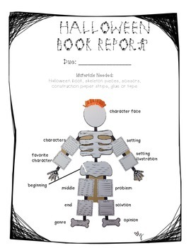 Halloween Skeleton Book Report