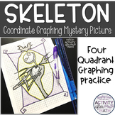 Halloween Math Skeleton Coordinate Graphing Picture