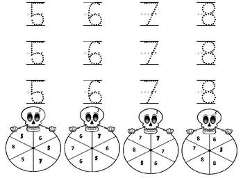 Halloween Skeleton Numbers 1-20