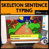 Halloween Skeleton Sentence Typing Task Cards - Play on Internet