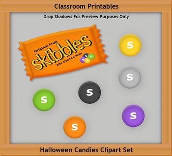 Halloween Skibbles Clipart Set