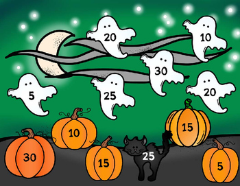Halloween Skip Count by 5 Bump