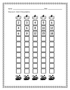 Halloween: Skip Counting