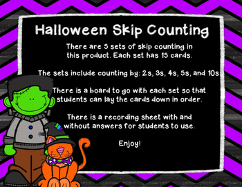 Halloween Skip Counting