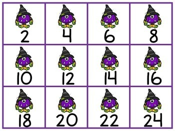 Halloween Skip Counting 2s, 5s, & 10s