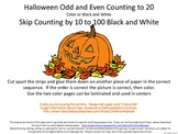 Halloween Skip Counting Cut And Glue