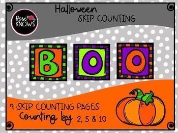 Halloween Skip Counting FREEBIE