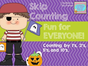 Halloween Skip Counting Math Center