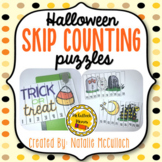 Halloween Skip Counting Puzzles- Count by 5, 10, & 100!