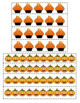 Halloween Skip Counting and Grouping Math Station