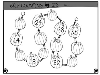 Halloween Activity Skip Counting by 2's, 5's, & 10's