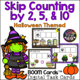 Halloween Skip Counting by 2, 5, & 10 BOOM Cards™ Distance