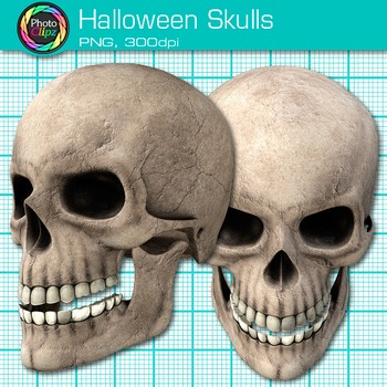 Halloween Skull Clip Art {Human Body Systems for Science Resources}