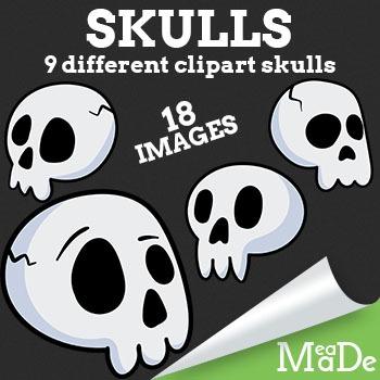 Halloween Skull Clipart