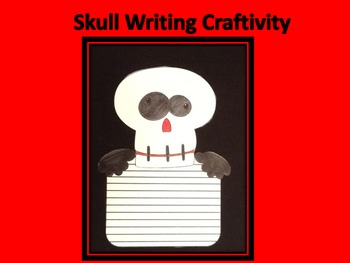 Halloween Skull Writing Craftivity