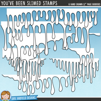 """Halloween Slime Page Toppers: """"You've Been Slimed"""""""