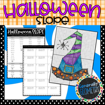 Halloween Slope; Coordinate Graphing Activity, Algebra