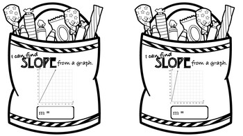 Halloween Slope Pennants - Graph and Write Linear Equations 8.4A