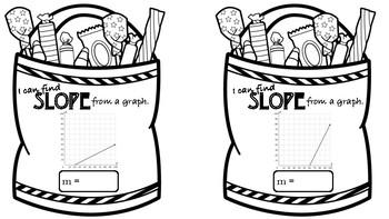 Halloween Slope Pennants- Linear Equations TEKS 8.4A