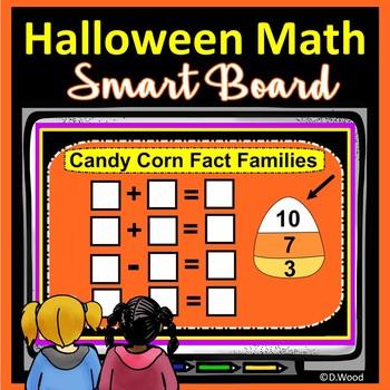 SMARTboard Halloween Math:  Kinder and First