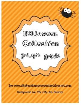 Halloween Bundle 8 worksheets/centers (Math, Grammar, Writ