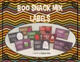 Halloween Snack Labels