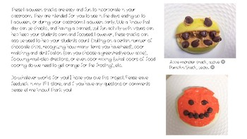 Halloween Snack Visual Recipe/Directions Bundle