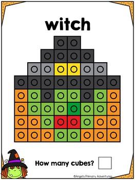 Halloween Snap Cube Activity Mats
