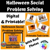 Halloween Social Problem Solving Printable Task Cards AND