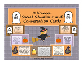 Halloween Social Situations and Conversation Cards